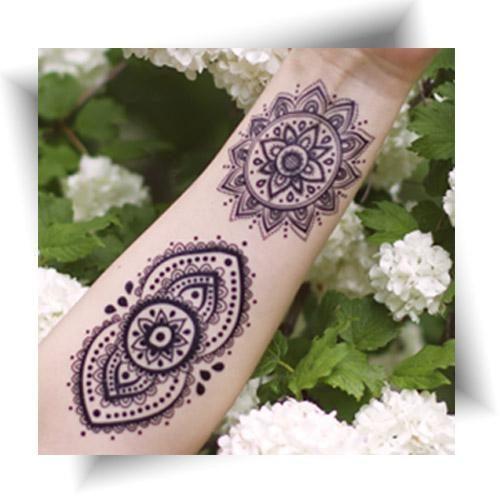 Tattoo éphémère mandala