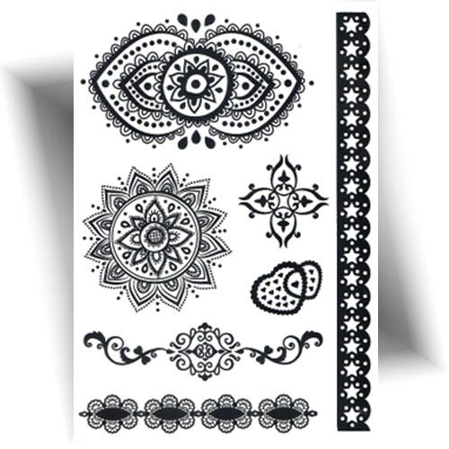Tattoo-éphémère-mandala-noir