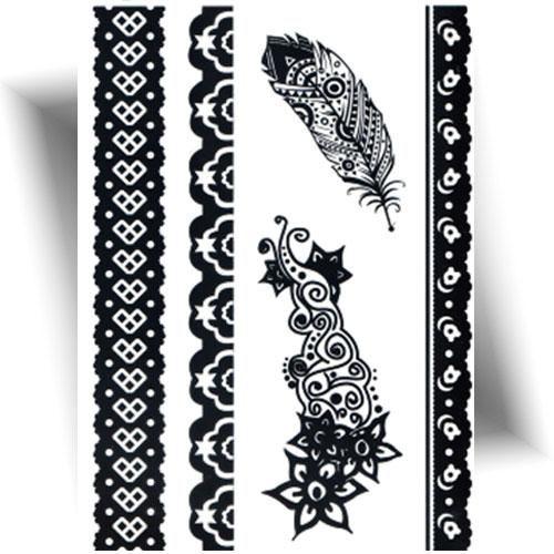 Tattoo-éphémère-plume-noire