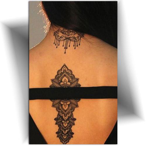 Tattoo temporaire effet dentelle noire