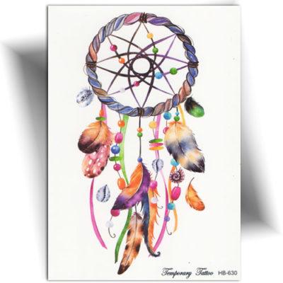 tatouage éphémère amulette colorée