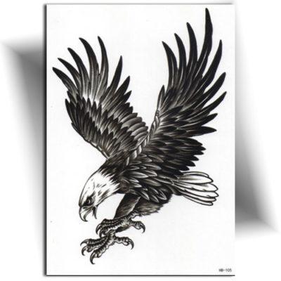 Tatouage éphémère aigle royal