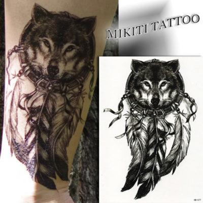 Tatouage éphémère Loup esprit