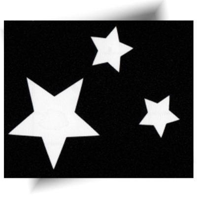 Pochoir adhésif trio d'étoiles