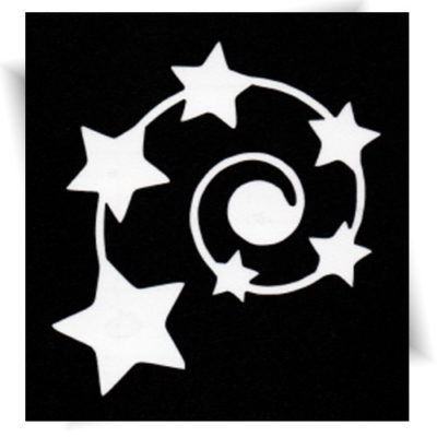 Pochoir adhésif spirale