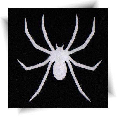 Pochoir adhésif araignée tatouage éphémère