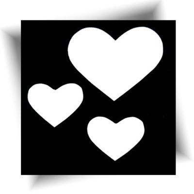 Pochoir adhésif love / Tatouage paillette