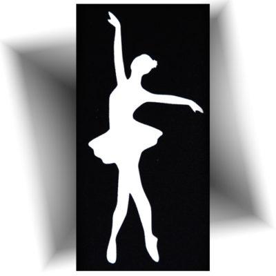 Pochoir adhésif danseuse