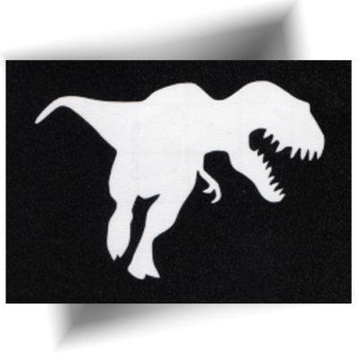 Pochoir adhésif dinosaure tatouage temporaire