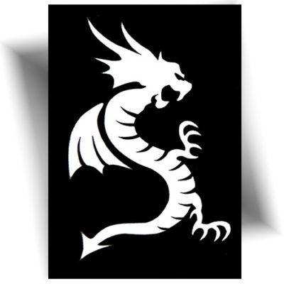 Pochoir adhésif Dragon tatouage temporaire