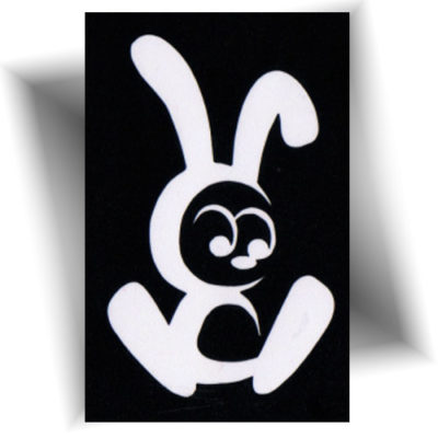 Pochoir adhésif lapin mignon tatouage provisoire