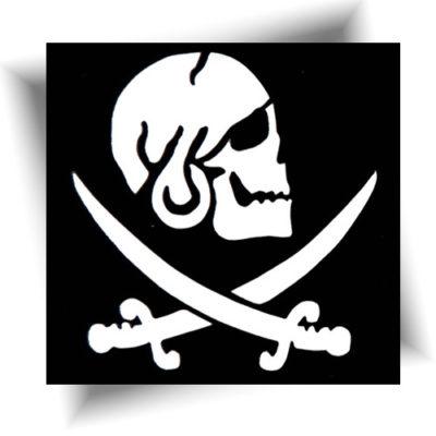 Pochoir adhésif pirate