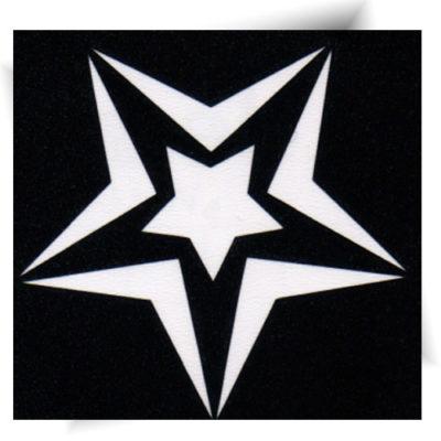 Pochoir adhésif double étoile