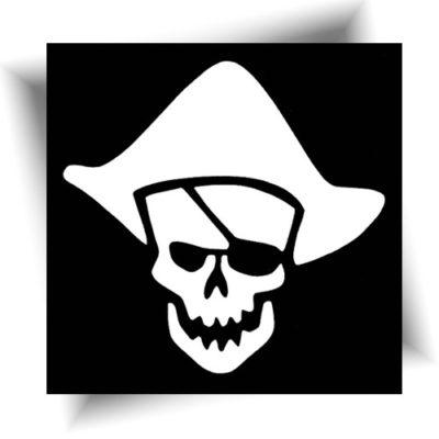 Pochoir adhésif pirate skull