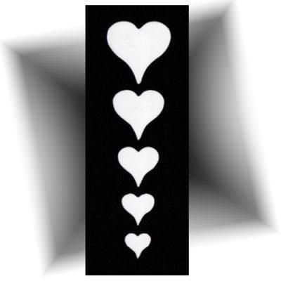 Pochoir adhésif Cœurs