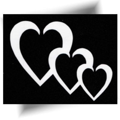 Pochoir trio de cœurs