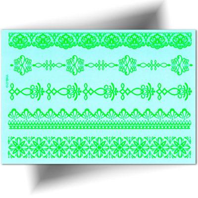 Tatouage éphémère bracelets fluorescents