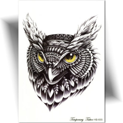 Décalcomanie tatouage hibou