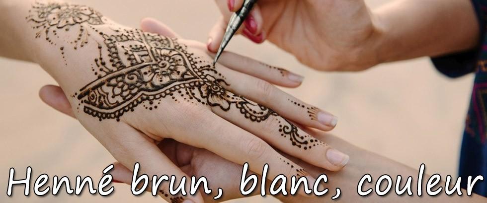 Henné Blanc henné brun golecha ~ tatouage éphémère mikiti