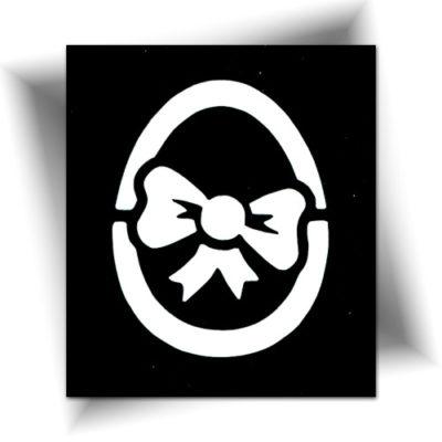 Pochoir adhésif œuf de Pâques tatouage éphémère
