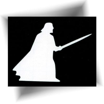 Pochoir adhésif Darth Vader tatouage temporaire