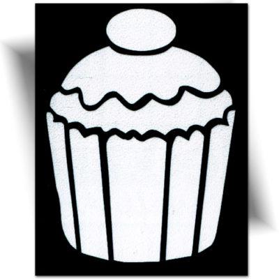 Pochoir adhésif gâteau, tatouage éphémère