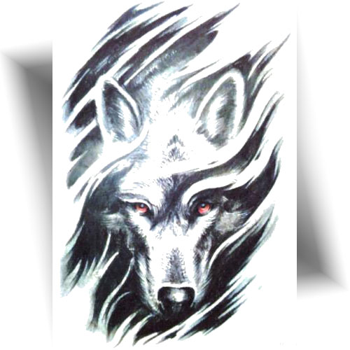 Tatouage-provisoire-loup-noir