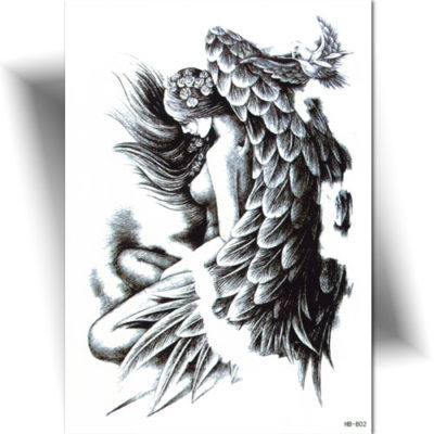 Grand tatouage temporaire ange