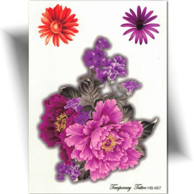 Tatouage temporaire fleur, tattoo éphémère femme