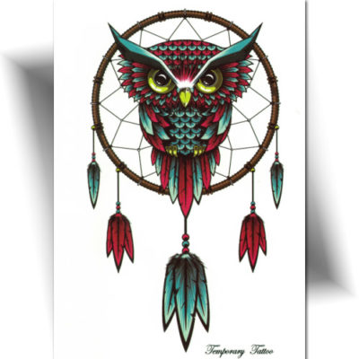 Tatouage grand format, motif hibou