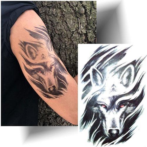 Tattoo-temporaire-loup