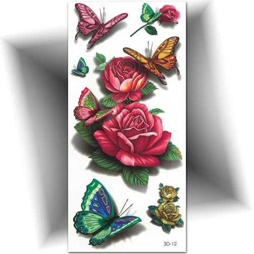 tatouage temporaire 3d papillon rose tatouage ph m re mikiti. Black Bedroom Furniture Sets. Home Design Ideas