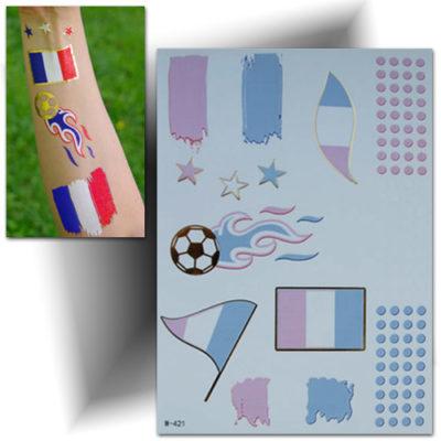 Tatouage temporaire drapeau France