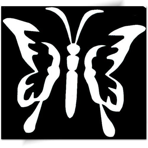 Pochoir adhésif pretty butterfly
