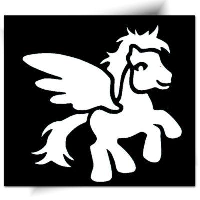 Pochoir adhésif poney féerique tatouage éphémère