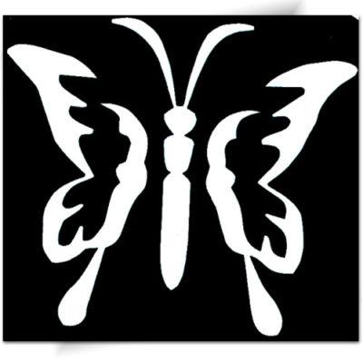 Pochoir pour animation tatouage paillette