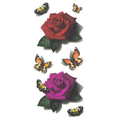 Tatouage éphémère fleur effet 3D
