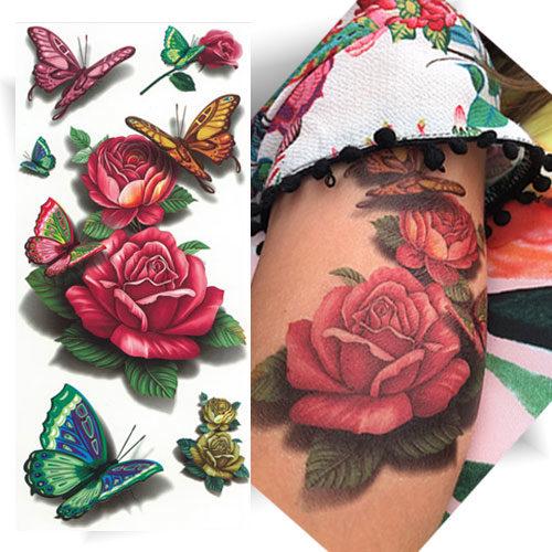 Tattoo rose effet 3D