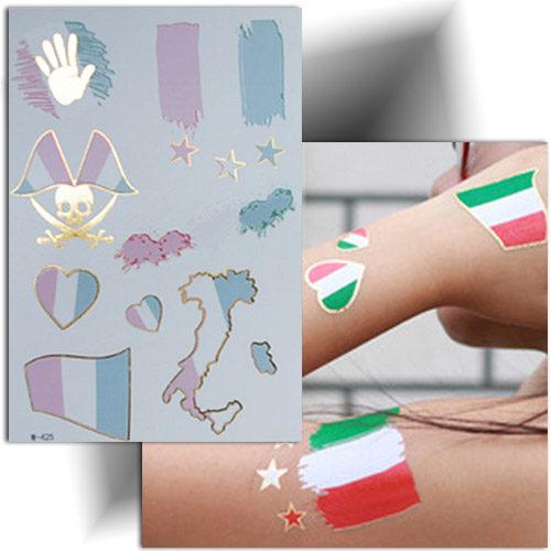 Tatouage éphémère supporter Italie, Mikiti