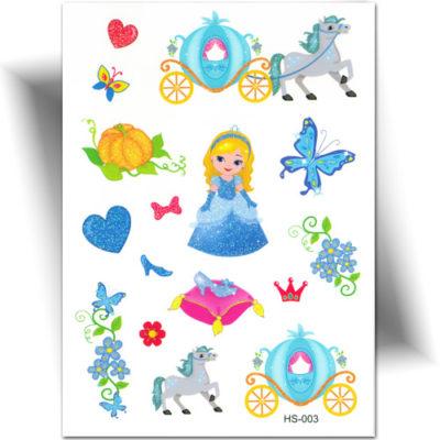 Tatouage temporaire princesse paillette