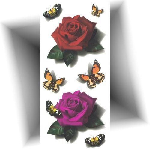 Tatouage-temporaire-réaliste-roses