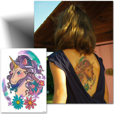 Tatouage temporaire Licorne