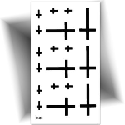 Mini tattoo temporaire croix