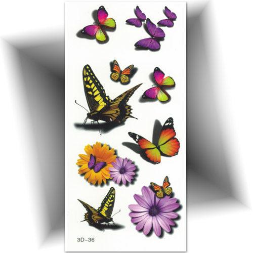 Tatouage éphémère 3D, papillon