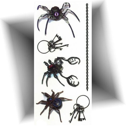 Tatouage-éphémère-3D-araignée-mécanique