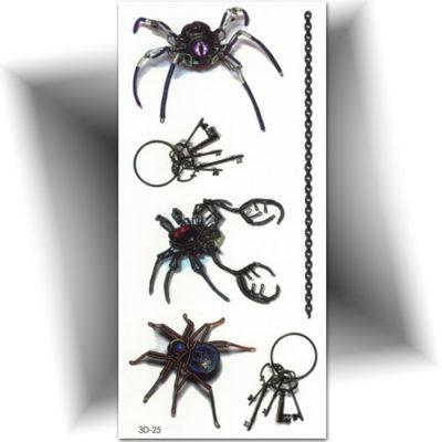 Tatouage temporaire araignée