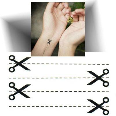 Mini tatouage éphémère ciseau