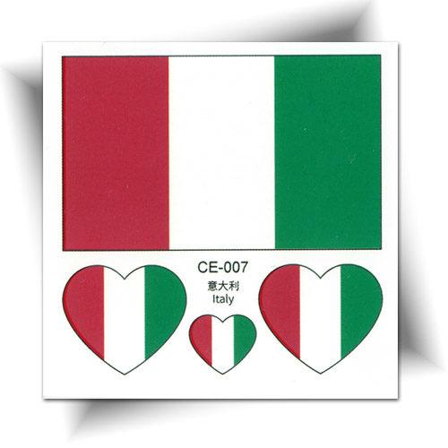 Tatouage temporaire drapeau Italie