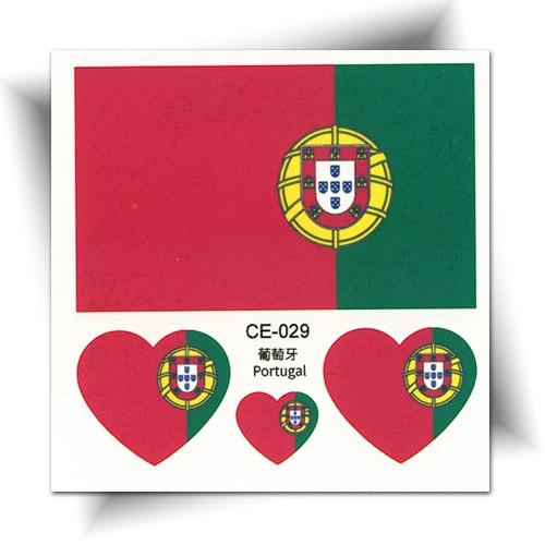 Tatouage temporaire drapeau Portugal