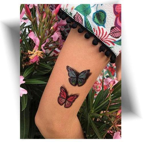 Tatouage-temporaire-effet-3D-papillons